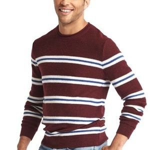 Gap Mens Merino Stripe Crew Knit Sweater